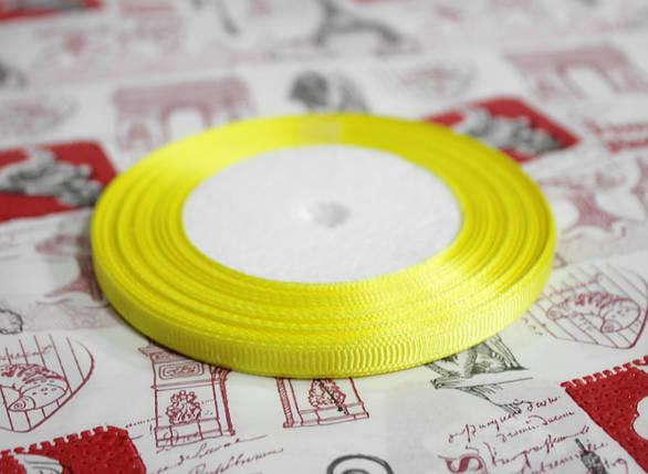 Лента репсовая лимонная 9 мм, 23 м, фото 2