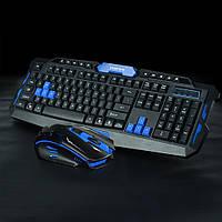 Клавиатура + мышка KEYBOARD HK-8100, беспроводная клавиатура и мышка, комплекты клавиатура мышка