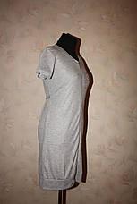 Трикотажный женский халат серого цвета, фото 3