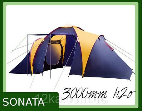 Палатка Presto Sonata 4 клеенные швы тамбур, фото 2