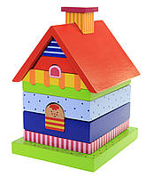 Детская пирамидка goki Домик 58934