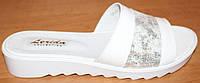 Сабо женские кожаные на маленькой платформе, летние сабо от производителя модель ВЛ1716