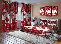 """Фото Комплект для спальни """"Красные розы"""""""
