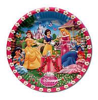 """Тарелки бумажные одноразовые детские """"Принцессы"""", 18 см, 10 шт/уп."""