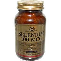 Solgar Selenium 100 mcg, Солгар Селен, Бездрожжевой 100 таблеток
