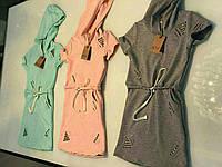 Трикотажные стильные   платья  на девочку .Турция