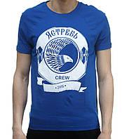 Мужская футболка Ястребь с принтом «Crew» синий ART2050, S и M