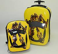 Набор чемодан детский на колесах + рюкзак Transformers 520343