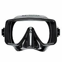 Маска для плавания Scubapro Frameless; чёрная Скубапро Фрамелс подводной охоты дайвинга снорклинга