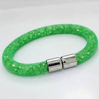 Браслет зеленый «Кристальный контраст»