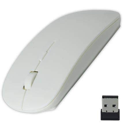 Радио мышь Apple Белая компьютерная беспроводная usb эплл для ноутбука компьютера планешта ультратонкая!, фото 2