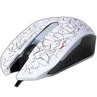Игровая мышь OYE V83D белая USB оптичская лазерная ЮСБ для компьютера ноутбука с LED ЛЕД подсветкой игры