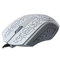 Игровая мышь JEQANG 812 белая для компьютера ноутбука USB с LED подсветкой ЛЭД ЮСб тихие щелчки