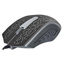 Супер игровая мышь JEQANG 812 черная для компьютера ноутбука USB с LED подсветкой ЛЭД ЮСб тихие щелчки
