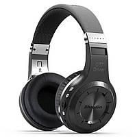 Стерео bluetooth гарнитура Bluedio H+ черная с микрофоном беспроводная USB microSD 3.5 jack FM-радио