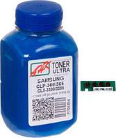 Тонер + чип Samsung CLP-360/365, CLX-3300/3305, Cyan, Ultra Color, AHK (1505414)