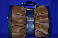 Красивая сумка от Valentino ( копия )  синяя с рыжим