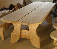 Стол 2м из натурального дерева из комплекта Гамма, фото 1