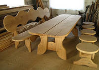 Мебель садовая из натурального дерева Гамма КОМПЛЕКТ, фото 1