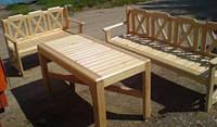 Мебель садовая из натурального дерева Дачница КОМПЛЕКТ, фото 1
