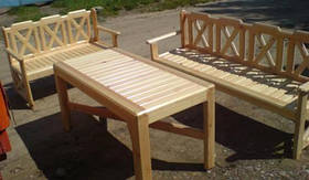 Мебель садовая из натурального дерева Дачница КОМПЛЕКТ