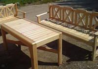 Стол 1.6м садовый из натурального дерева из комплекта Дачница , фото 1