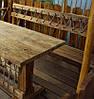 Скамья 2м со спинкой из натурального дерева из комплекта Кантри