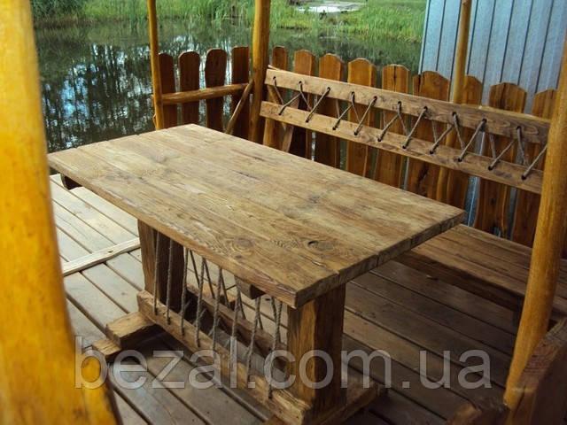 Стол 1.6м из натурального дерева из комплекта Кантри