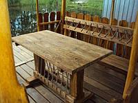 Стол 1.6м из натурального дерева из комплекта Кантри, фото 1