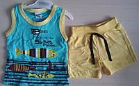 Детский летний костюм для мальчиков 1-3 года майка и шорты