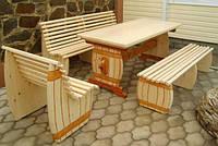 Мебель садовая из натурального дерева Пивная КОМПЛЕКТ , фото 1