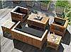 Кресло 0,7м Тоскана мебель садовая из натурального дерева