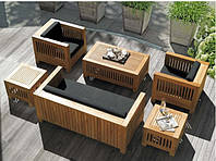 Кресло 0,7м Тоскана мебель садовая из натурального дерева, фото 1