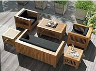 Столик 0,5м Тоскана мебель садовая из натурального дерева, фото 1
