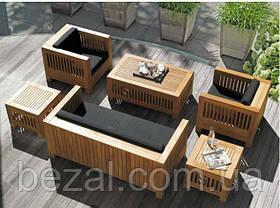 Столик 1м Тоскана мебель садовая из натурального дерева