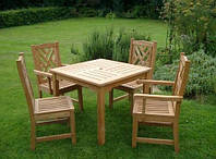 Мебель садовая из натурального дерева Уют стул с подлокотниками, фото 1
