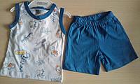 Детский летний костюм для мальчиков 6-12 мес майка и шорты