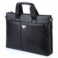 Мужская сумка Bradford 8903-5 черная для ноутбука для формата А4 из искусственной кожи 38см х 28см х 7см