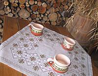 Вышитая скатерть для кофейного столика Кофейная