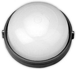 RIGHT HAUSEN Светильник настенный 60W IP54 черный круг