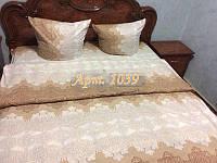 Комплект постельного БЯЗЬ оптом и в розницу, Кружево нежное, топленое молоко 1039