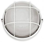 RIGHT HAUSEN Светильник настенный 60W IP54 с решеткой белый круг