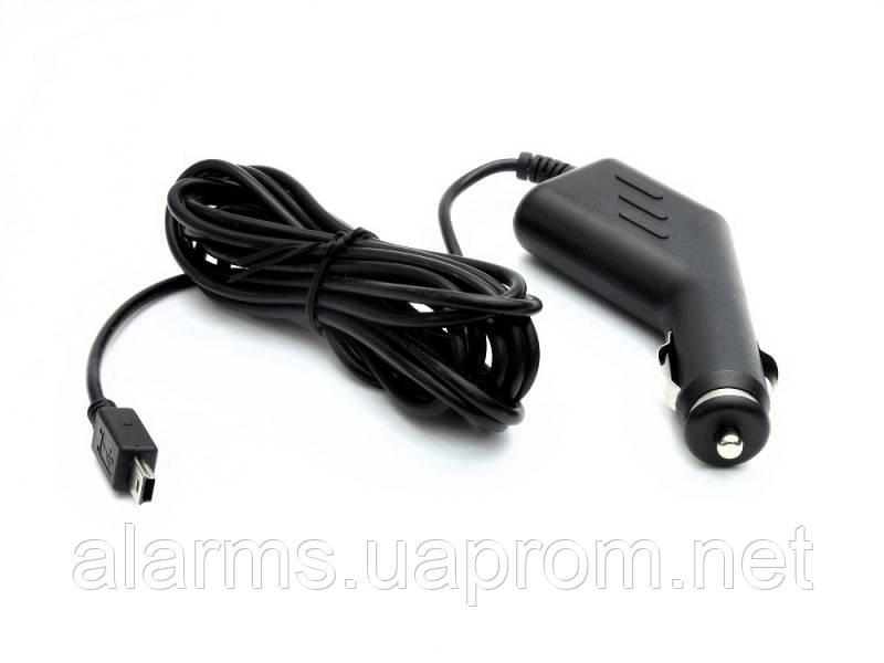 Адаптер питания 12V-5V 1,5A в прикуриватель с  mini USB выходом
