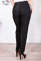 Черные стрейчевые облегающие женские брюки из стрейчевой ткани