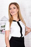 Блузка белая с планкой