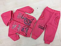 Спортивный костюм для девочки История любви розовый с начесом 1008