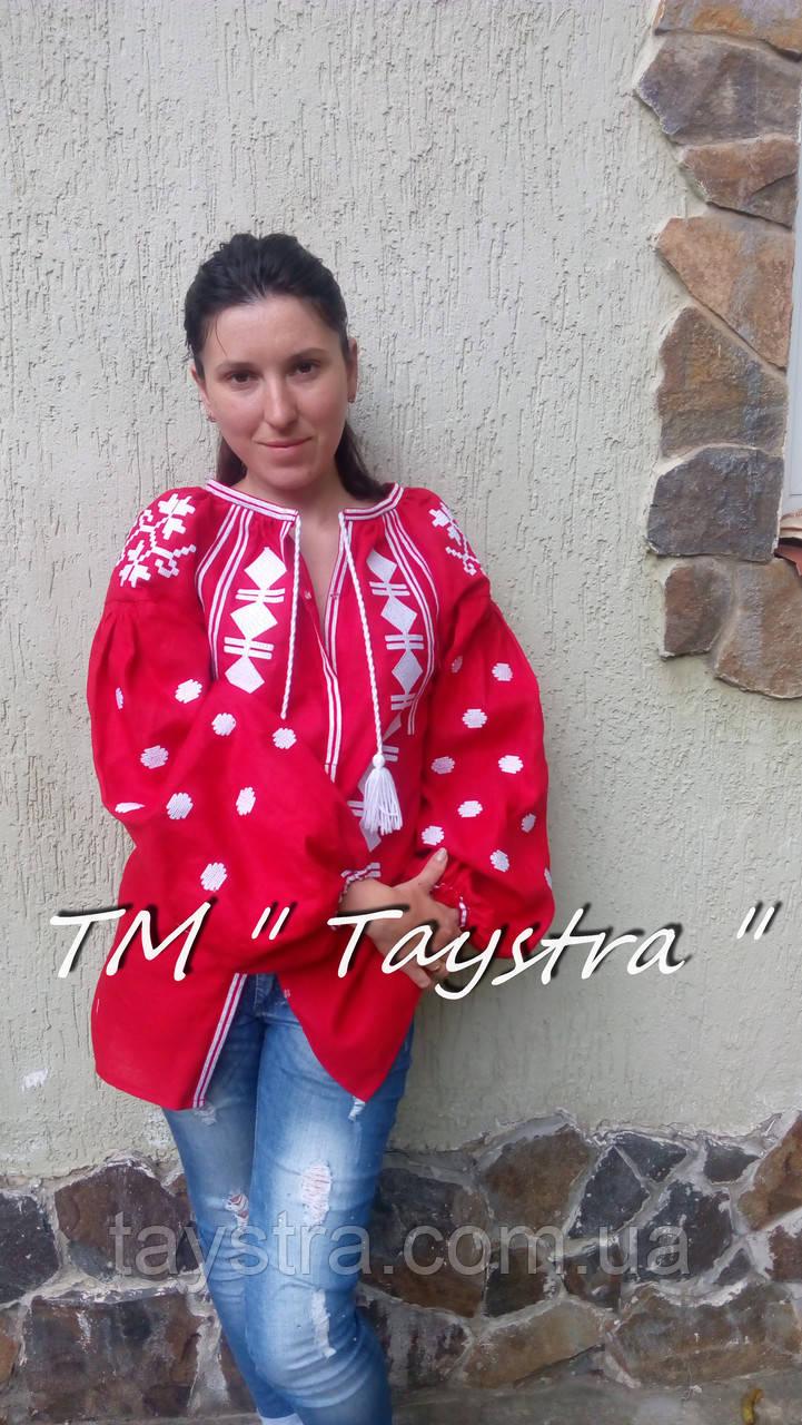 Блузка бохо женская вышитая, вышиванка лен, этностиль