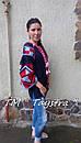 Блузка бохо вышитая, вышиванка,синий лен, этно стиль, Bohemian, фото 5