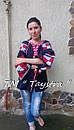 Блузка бохо вышитая, вышиванка,синий лен, этно стиль, Bohemian, фото 6