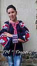 Блузка бохо вышитая, вышиванка,синий лен, этно стиль, Bohemian, фото 2